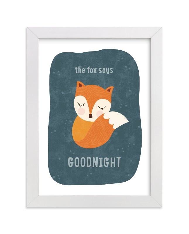 """""""Sleepy Fox"""" - Limited Edition Art Print by Erica Krystek in beautiful frame options and a variety of sizes."""