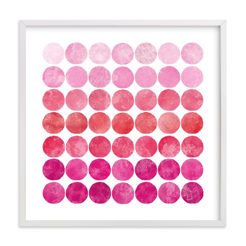 """Circles"" - Limited Edition Art Print by Christine Copeland in beautiful frame options and a variety of sizes."