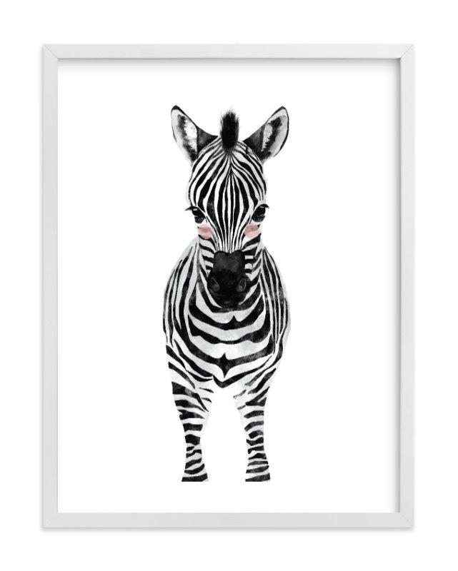 baby animal.zebra Wall Art Prints by Cass Loh   Minted