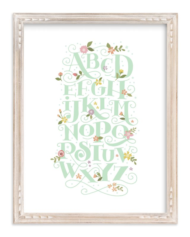 """Blooming letters"" - Limited Edition Art Print by Jennifer Wick in beautiful frame options and a variety of sizes."