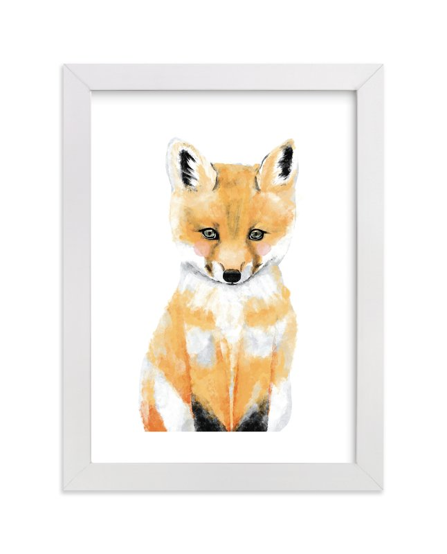 """""""Baby Animal.Fox"""" - Limited Edition Art Print by Cass Loh in beautiful frame options and a variety of sizes."""