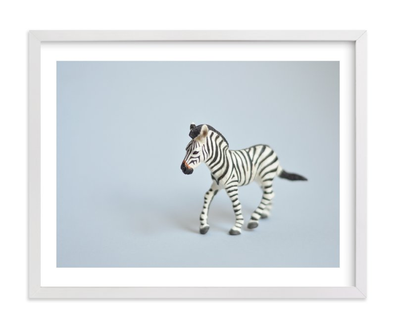 """""""Oh, Zebra"""" - Limited Edition Art Print by Kinga Subject in beautiful frame options and a variety of sizes."""