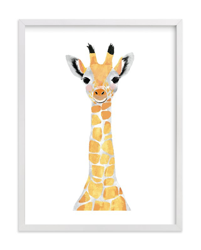Marvelous Baby Animal.giraffe Wall Art Prints By Cass Loh | Minted
