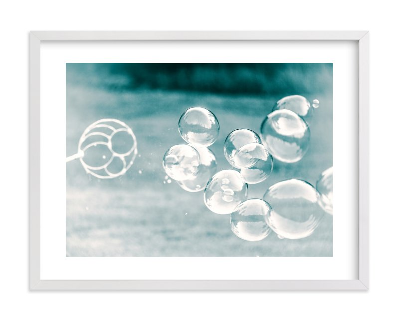 """""""Bubbles out of the Blue"""" - Limited Edition Art Print by Mary Ann Glynn-Tusa in beautiful frame options and a variety of sizes."""