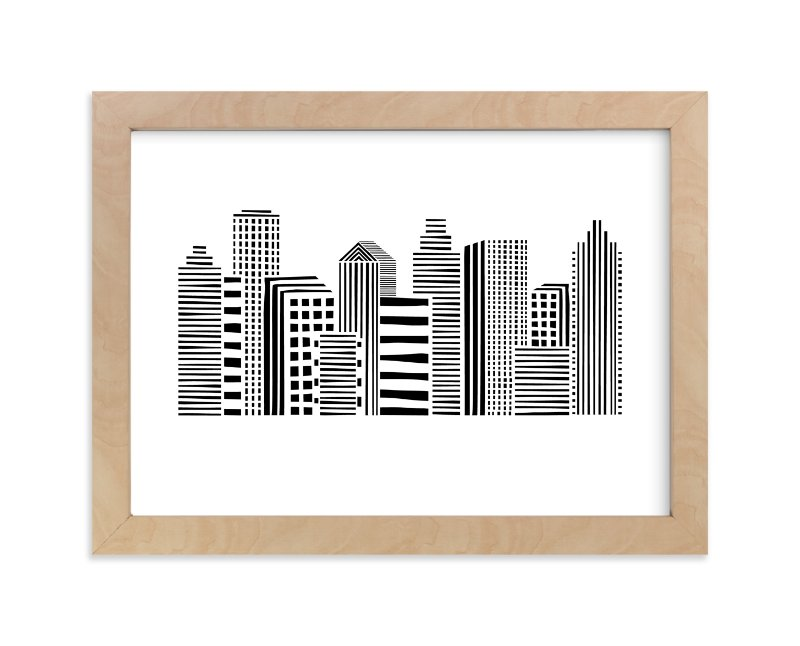 """""""Linear Cityscape"""" - Limited Edition Art Print by Daniela in beautiful frame options and a variety of sizes."""