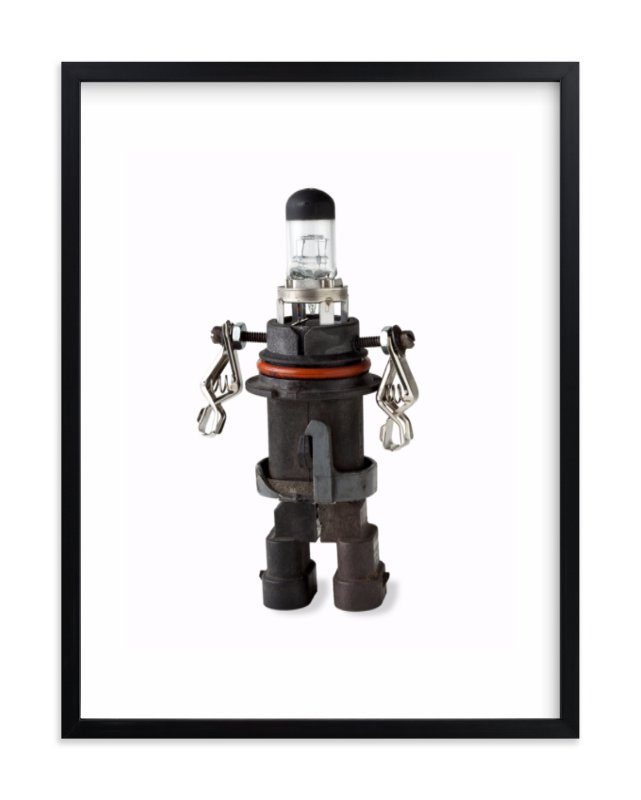 """""""Robot 1"""" - Limited Edition Art Print by russell stephanchick in beautiful frame options and a variety of sizes."""