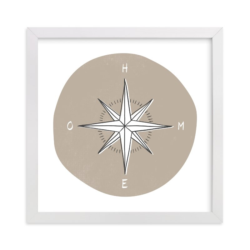 """Traveler's Compass"" - Limited Edition Art Print by Letter19Design in beautiful frame options and a variety of sizes."