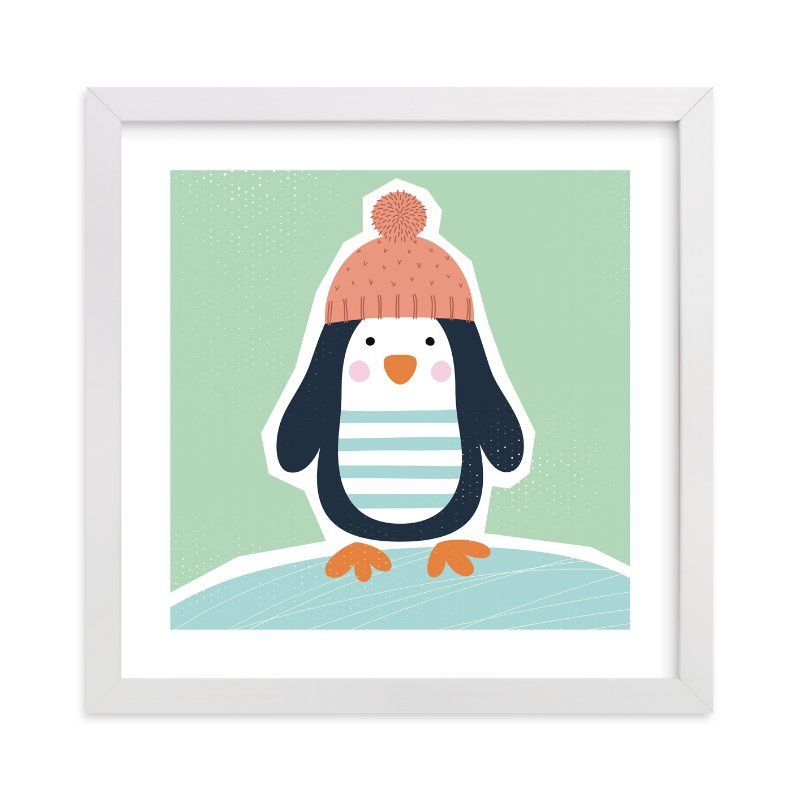 """Little Penguin Print"" - Limited Edition Art Print by Ekaterina Romanova in beautiful frame options and a variety of sizes."