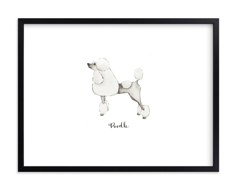 """""""Poodle"""" - Limited Edition Art Print by Megan Kelso in beautiful frame options and a variety of sizes."""