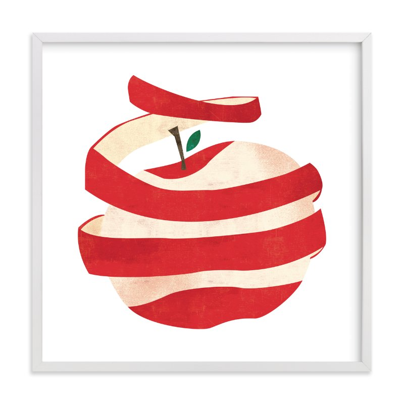 """Peeled Apple"" - Limited Edition Art Print by Morgan Ramberg in beautiful frame options and a variety of sizes."