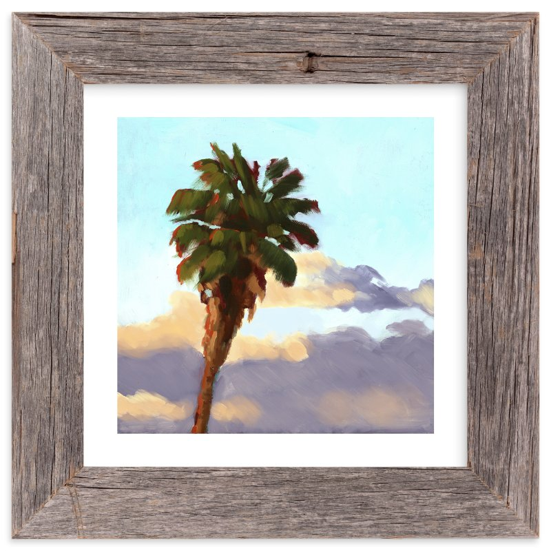"""""""Palm Palm Pom Pom"""" - Limited Edition Art Print by Rachel Nelson in beautiful frame options and a variety of sizes."""