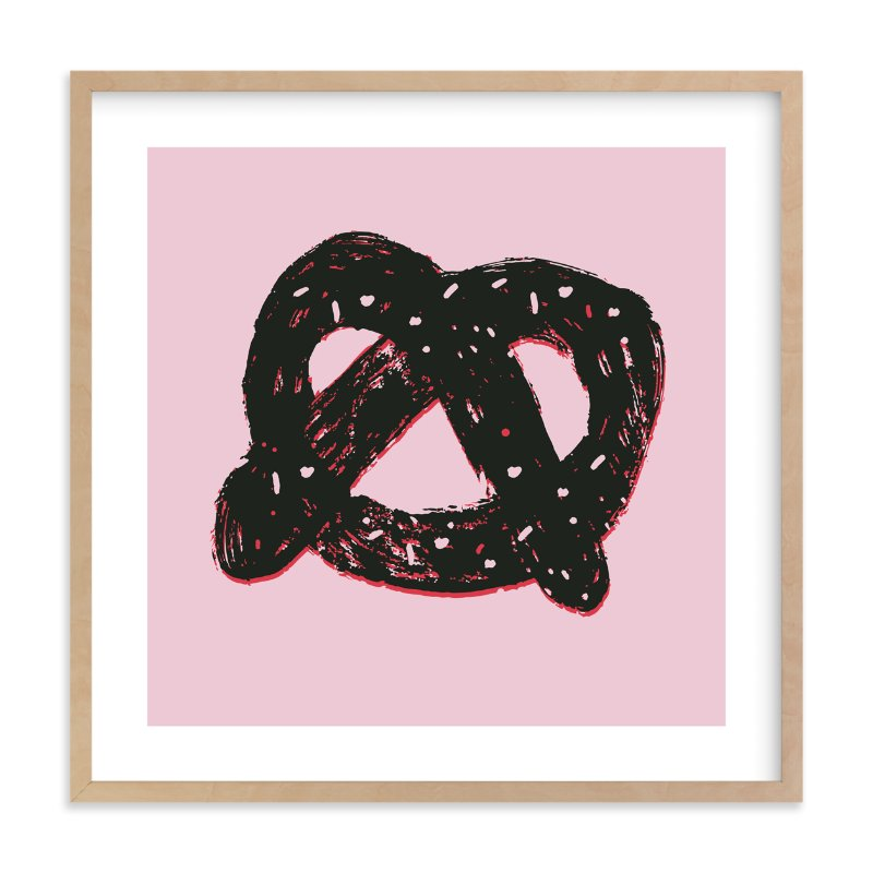 """Pretzel"" - Limited Edition Art Print by Jordan Sondler in beautiful frame options and a variety of sizes."
