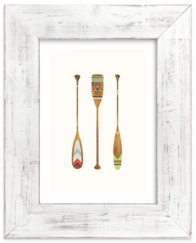 """Let's Get Paddles"" - Limited Edition Art Print by SUWACHI in beautiful frame options and a variety of sizes."