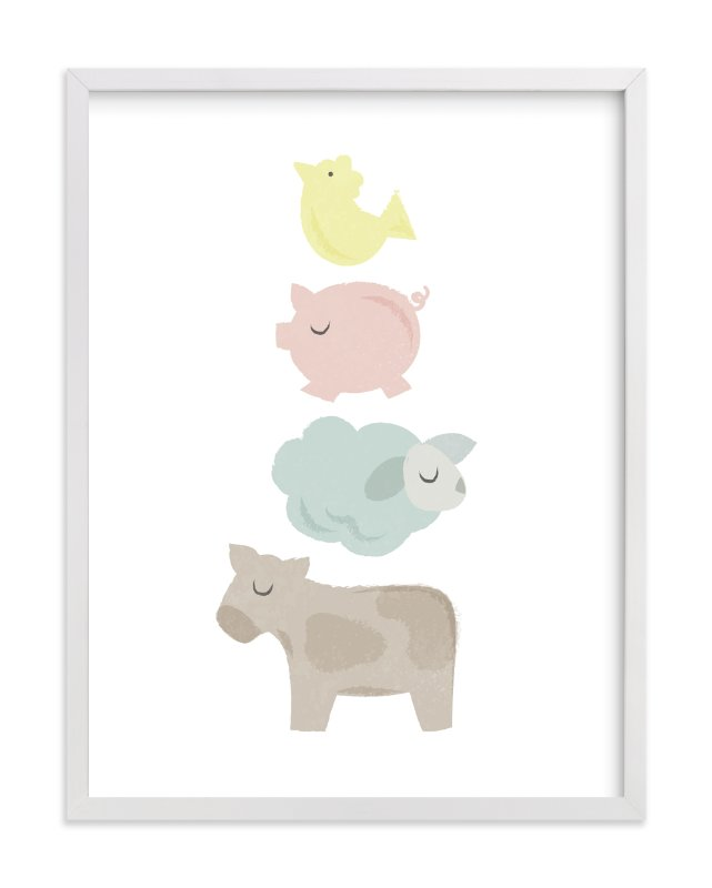 """""""Barnyard Bounce"""" - Limited Edition Art Print by Jessie Steury in beautiful frame options and a variety of sizes."""