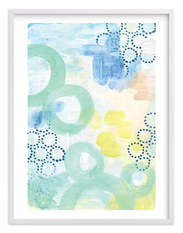"""""""Graphic Bubbles no.1"""" - Limited Edition Art Print by Alethea and Ruth in beautiful frame options and a variety of sizes."""