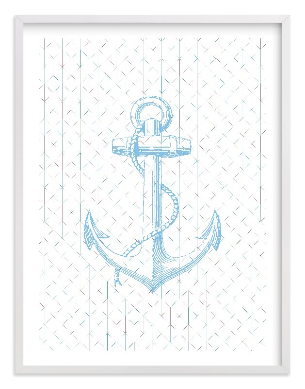 """Anchors Away"" - Limited Edition Art Print by Laura McCarty in beautiful frame options and a variety of sizes."