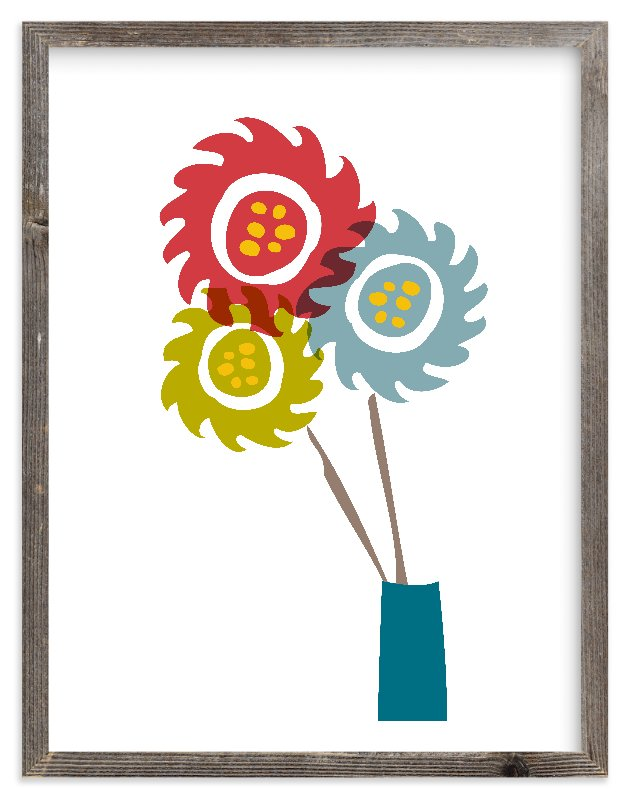 """Blooms"" - Limited Edition Art Print by chica design in beautiful frame options and a variety of sizes."
