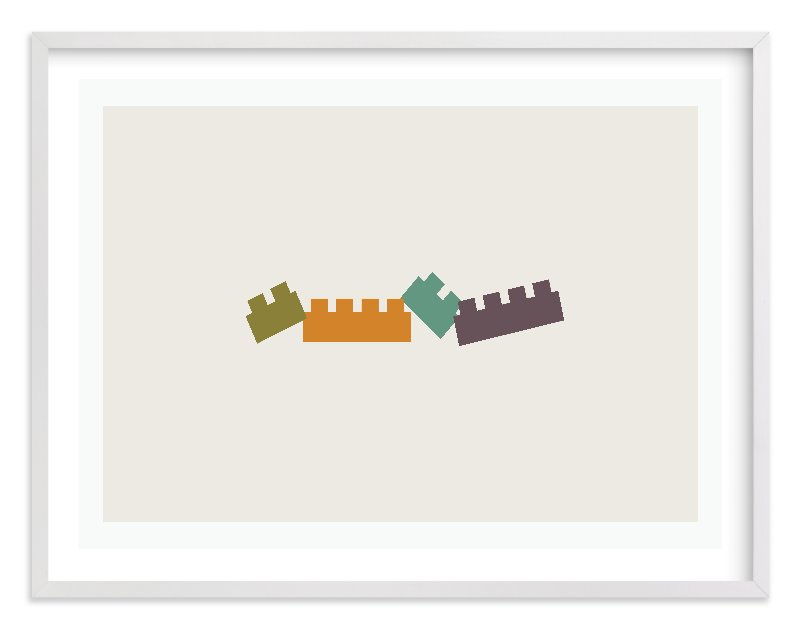 """Train of Blocks"" - Limited Edition Art Print by aticnomar in beautiful frame options and a variety of sizes."