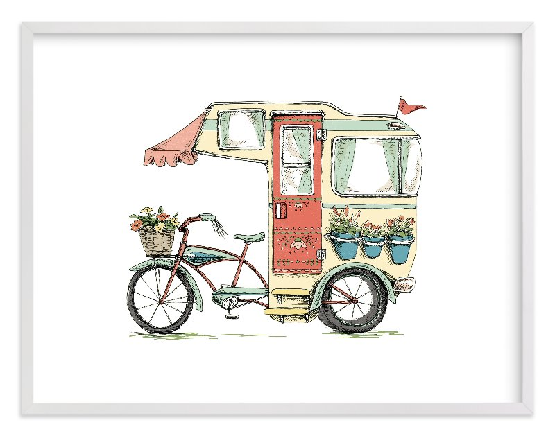 """""""Trailer Life"""" - Limited Edition Art Print by Honeybunch Studio in beautiful frame options and a variety of sizes."""