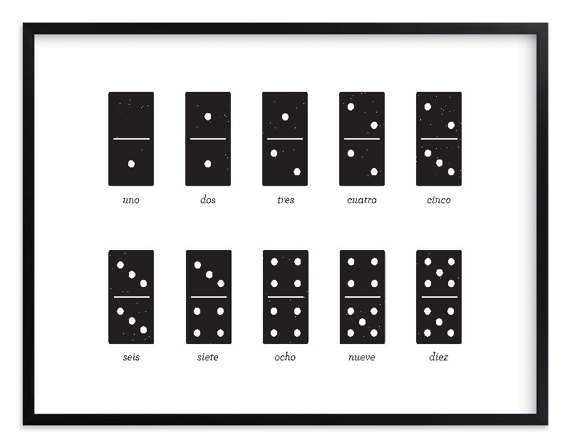 """""""Counting Dominoes"""" - Limited Edition Art Print by Snow and Ivy in beautiful frame options and a variety of sizes."""