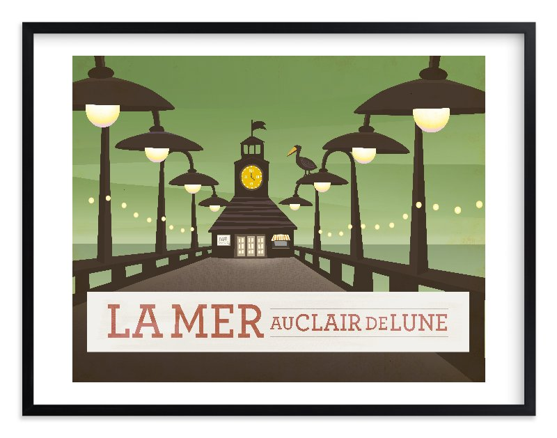 """""""La Mer"""" - Limited Edition Art Print by Griffinbell Paper Co. in beautiful frame options and a variety of sizes."""