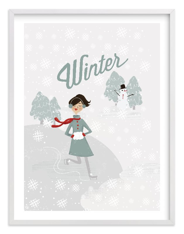 """""""Winter Wonder"""" - Limited Edition Art Print by Pistols in beautiful frame options and a variety of sizes."""