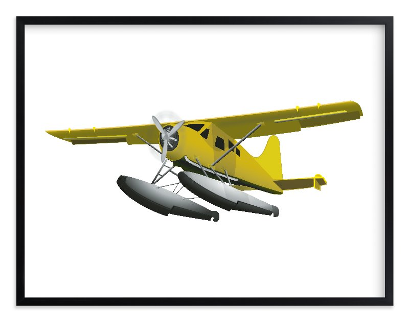 """""""Seaplane"""" - Limited Edition Art Print by Nathan Poland in beautiful frame options and a variety of sizes."""