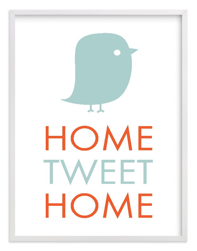 """""""Home Tweet Home"""" - Limited Edition Art Print by Dozi in beautiful frame options and a variety of sizes."""