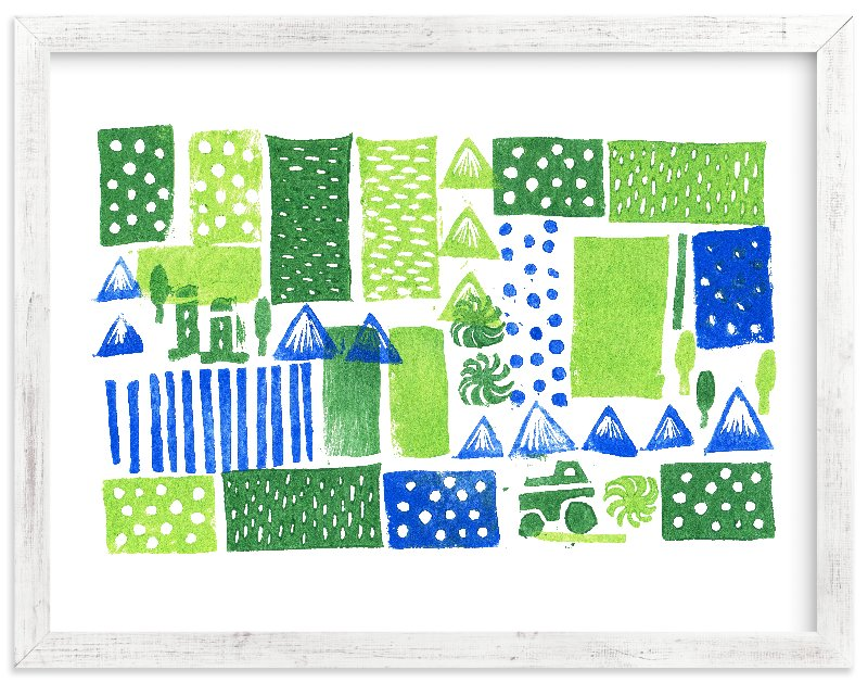 """""""Green Mountain"""" - Limited Edition Art Print by SUWACHI in beautiful frame options and a variety of sizes."""