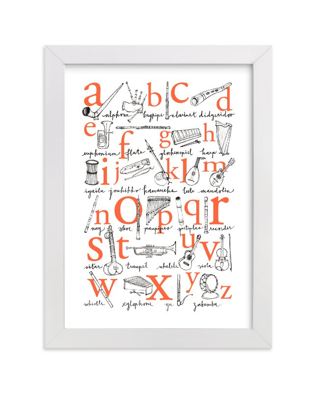 """ABC of Musical Instruments"" - Limited Edition Art Print by Phoebe Schweizer West in beautiful frame options and a variety of sizes."