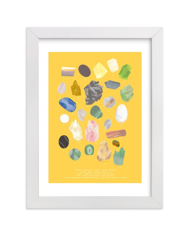 """""""ABC Rocks"""" - Limited Edition Art Print by Baumbirdy in beautiful frame options and a variety of sizes."""