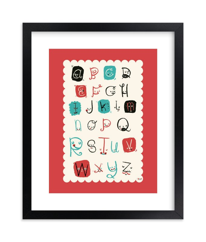 """Alphabet Friends"" - Limited Edition Art Print by ERAY in beautiful frame options and a variety of sizes."