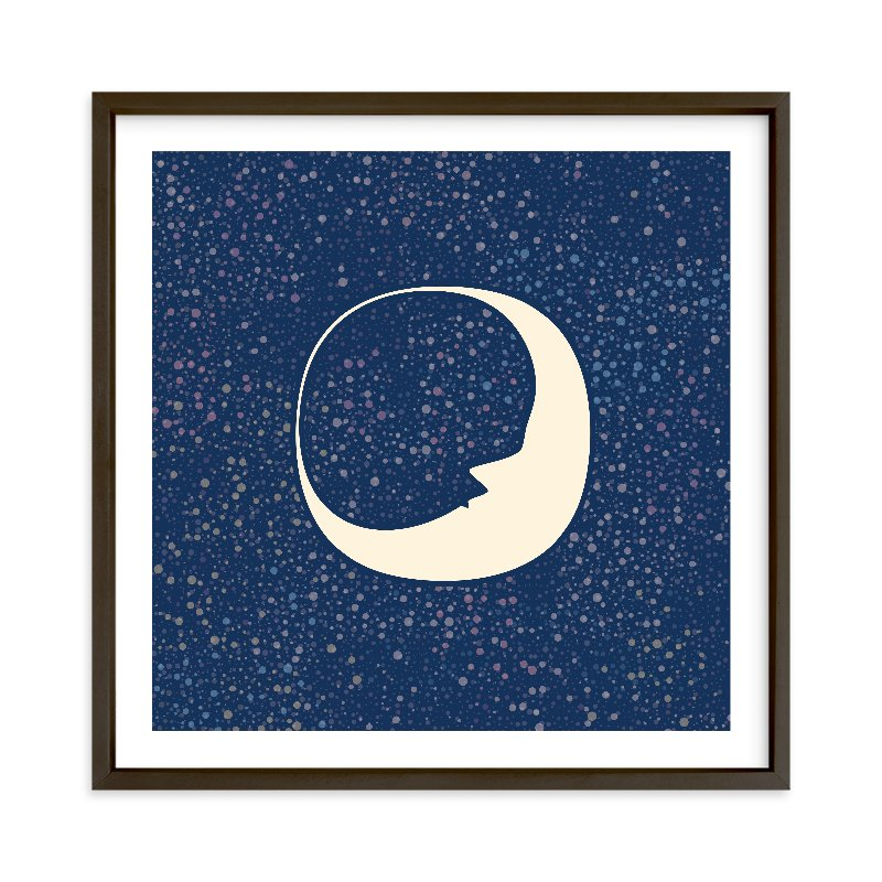 """""""Celestial Moon"""" - Limited Edition Art Print by Katherine Morgan in beautiful frame options and a variety of sizes."""