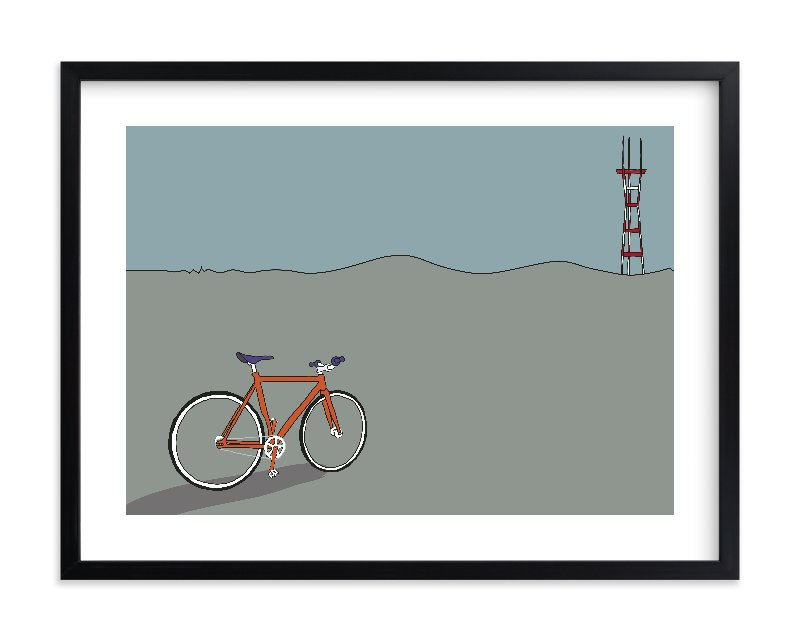 """""""Longing for Sutro"""" - Limited Edition Art Print by Kai Hofius in beautiful frame options and a variety of sizes."""