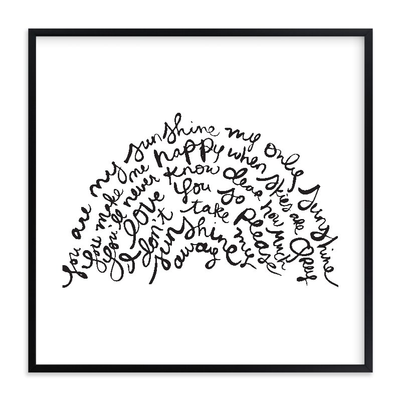 """You Are My Rising Sunshine"" - Limited Edition Art Print by Dean Street in beautiful frame options and a variety of sizes."
