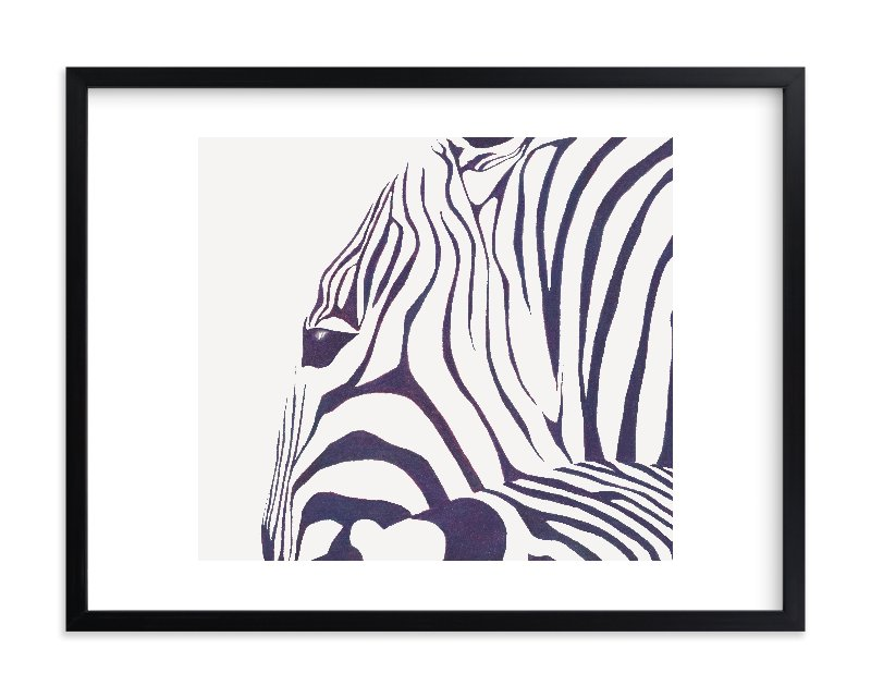 """""""Hello Zebra! """" - Limited Edition Art Print by Gaucho Works in beautiful frame options and a variety of sizes."""