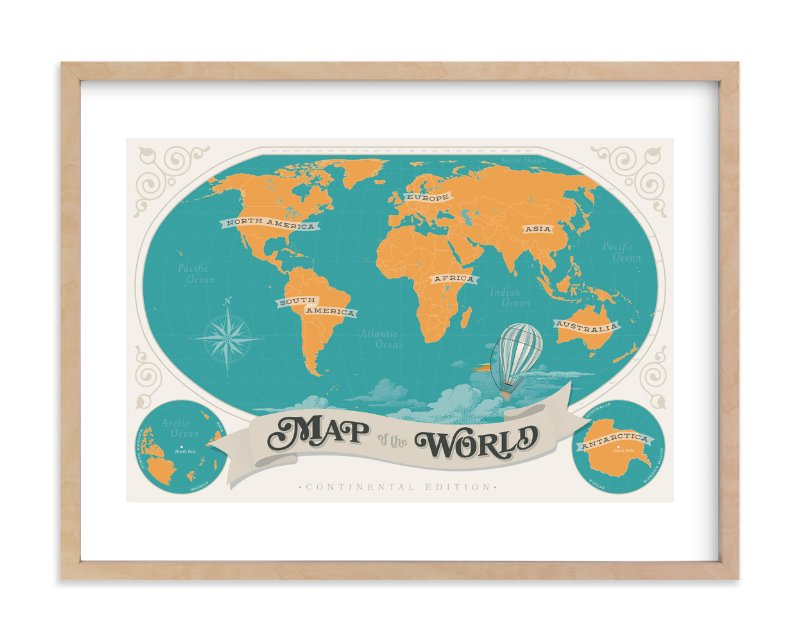 Map of the world wall art prints by geekink design minted map of the world limited edition art print by geekink design in beautiful gumiabroncs Gallery