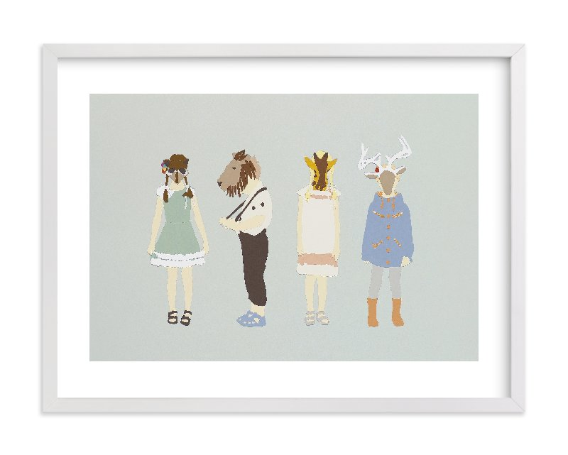 """""""my head is an animal"""" - Limited Edition Art Print by Emily King in beautiful frame options and a variety of sizes."""