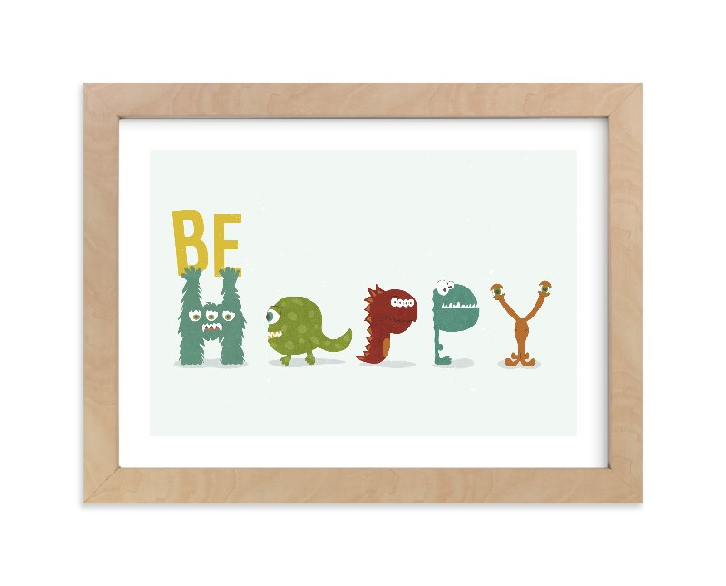 """""""Happy Monster"""" - Limited Edition Art Print by Shasta Knight in beautiful frame options and a variety of sizes."""