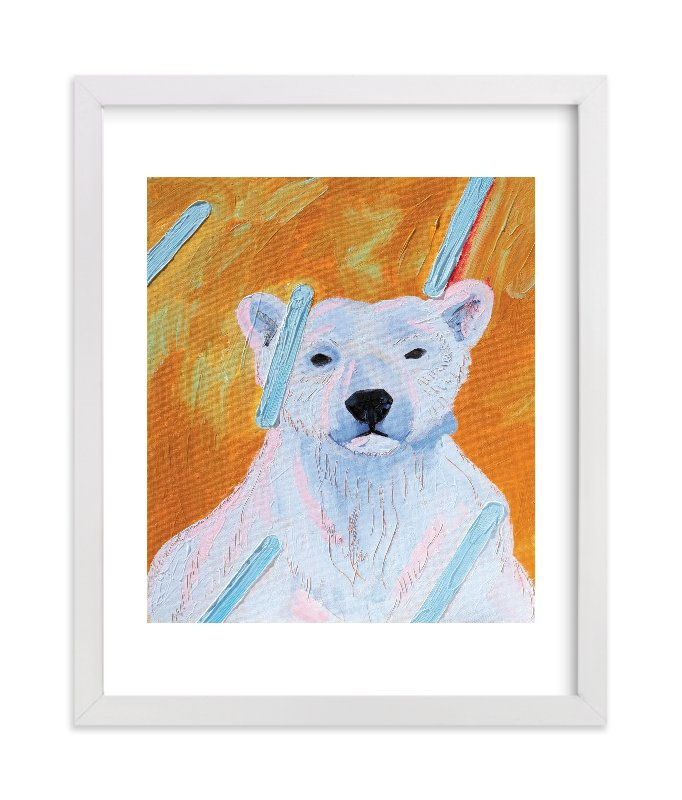 """""""Polar Rain"""" - Limited Edition Art Print by Debra Bianculli in beautiful frame options and a variety of sizes."""