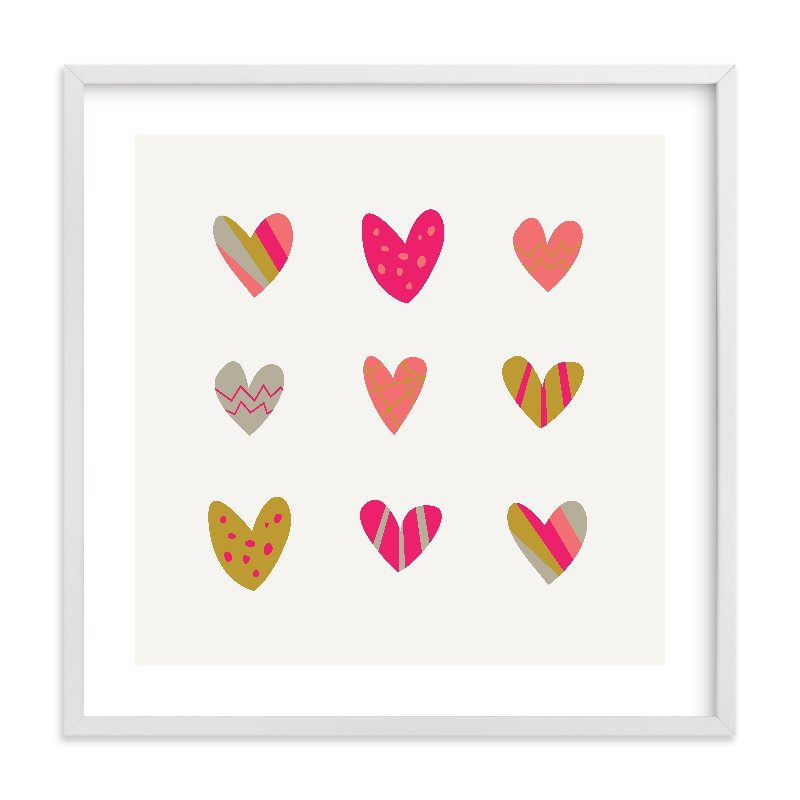 """""""Heart Party"""" - Limited Edition Art Print by Shari Margolin in beautiful frame options and a variety of sizes."""