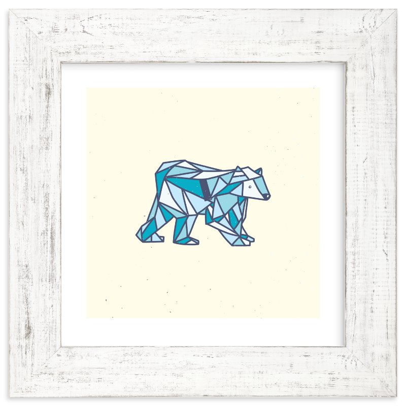 """Polar Polygon"" - Limited Edition Art Print by hello molly in beautiful frame options and a variety of sizes."