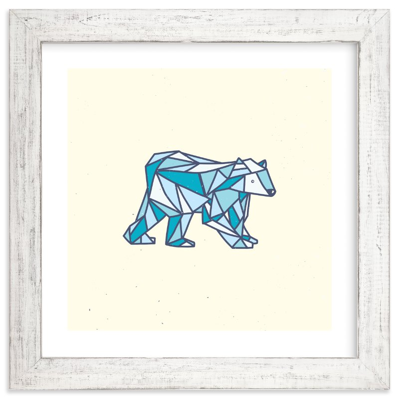"""""""Polar Polygon"""" - Limited Edition Art Print by hello molly in beautiful frame options and a variety of sizes."""