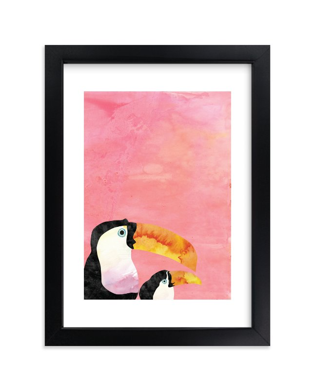 """Toucans"" - Limited Edition Art Print by Kanika Mathur in beautiful frame options and a variety of sizes."