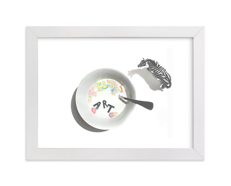 """""""Cereal & Milk"""" - Limited Edition Art Print by Calais Le Coq in beautiful frame options and a variety of sizes."""