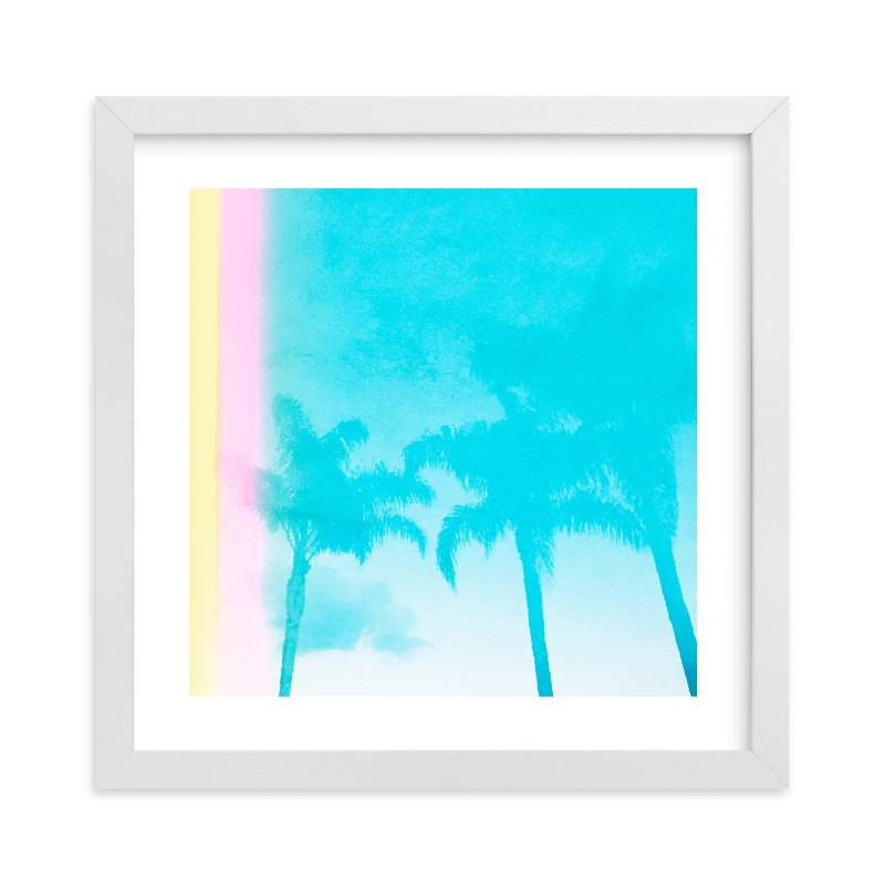 """""""Water Palms"""" - Limited Edition Art Print by Kamala Nahas in beautiful frame options and a variety of sizes."""
