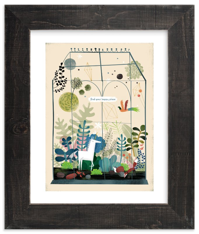 """""""Find Your Happy Place"""" - Limited Edition Art Print by Chris Lensch in beautiful frame options and a variety of sizes."""