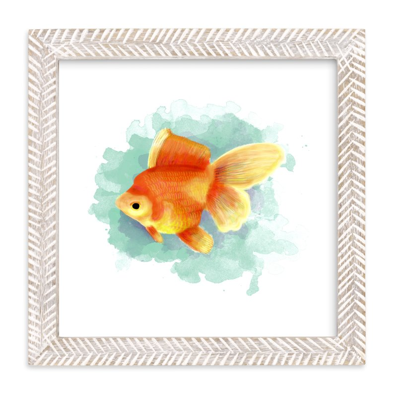 """""""Golden Fish"""" - Limited Edition Art Print by iamtanya in beautiful frame options and a variety of sizes."""
