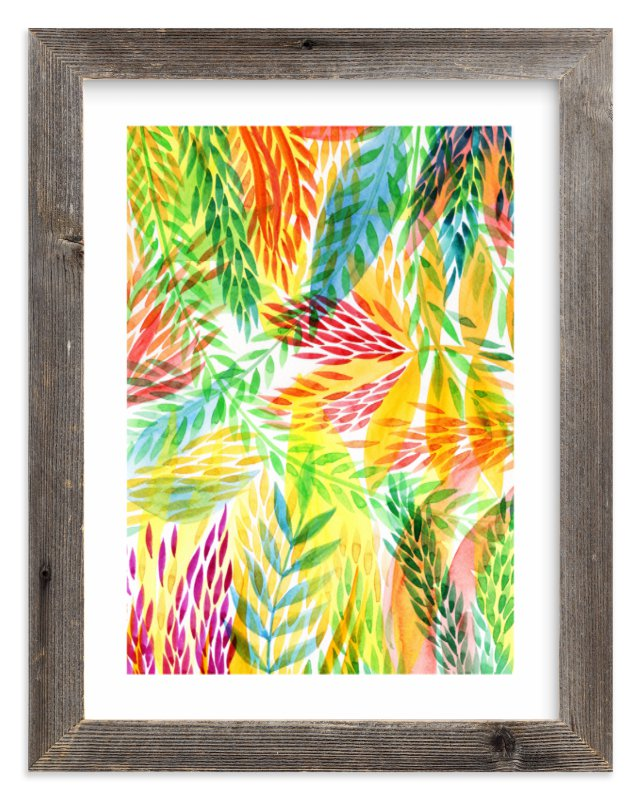 """Tropical"" - Limited Edition Art Print by Alexandra Dzh in beautiful frame options and a variety of sizes."