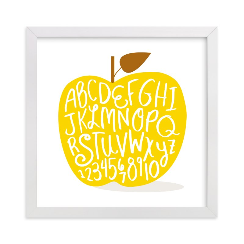 """Apple ABCs"" - Limited Edition Art Print by Baumbirdy in beautiful frame options and a variety of sizes."